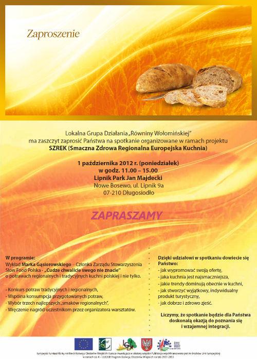 Zaproszenie Lipnik Park Październik 2012