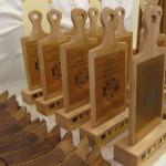 Statuetki w kształcie deski z kucharzem na postumencie dla SKPR i LGD RW